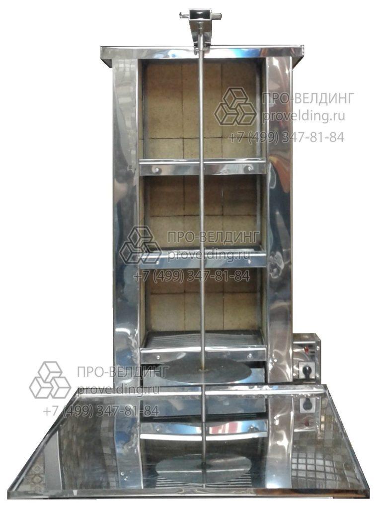 Изготовление аппаратов для шаурмы на углях